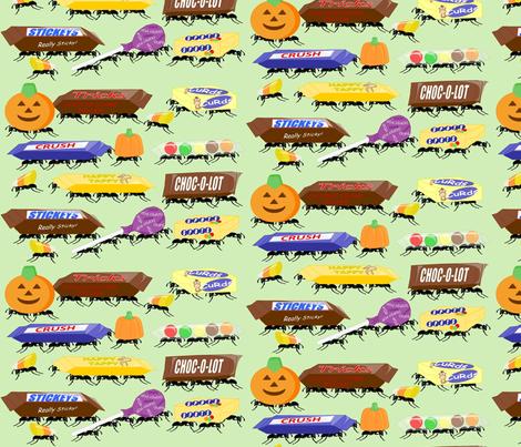 creepy_crawly_candy fabric by roxiespeople on Spoonflower - custom fabric