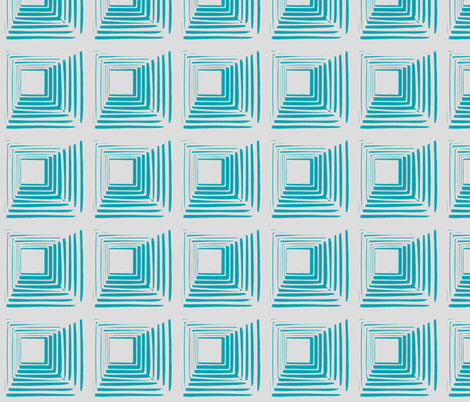 Stacked Aqua fabric by blue_jacaranda on Spoonflower - custom fabric