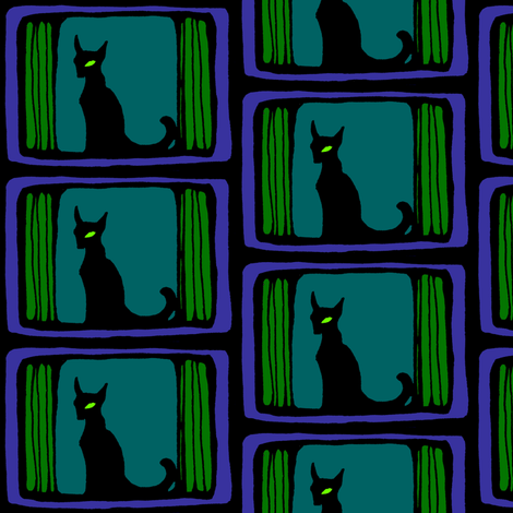 The Cat fabric by art_rat on Spoonflower - custom fabric