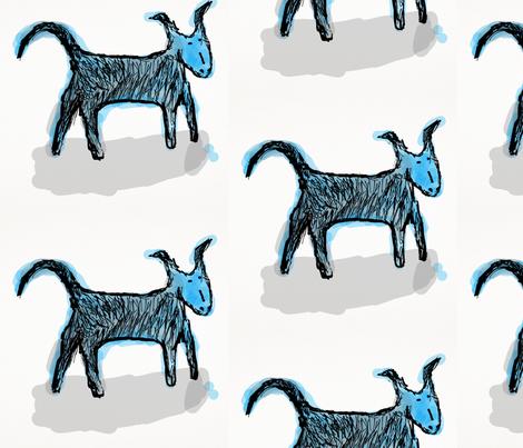 Blue Dog fabric by daisyteacher on Spoonflower - custom fabric