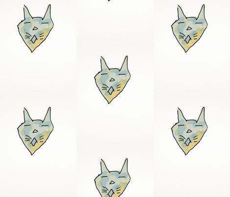Cool  Cat fabric by daisyteacher on Spoonflower - custom fabric