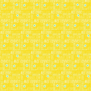 Personalised Fabric - Yellow Daisies Small
