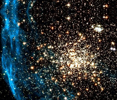 NASA NGC1850, A Cluster of stars fabric by datawolf on Spoonflower - custom fabric