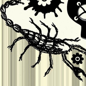 ink blot  zombie skull / stripe