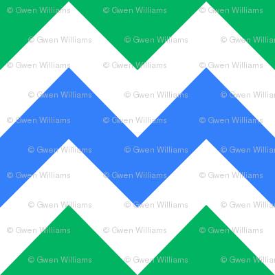 blue green white chevron 2