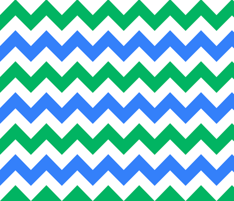 blue green white chevron 2 fabric by mojiarts on Spoonflower - custom fabric