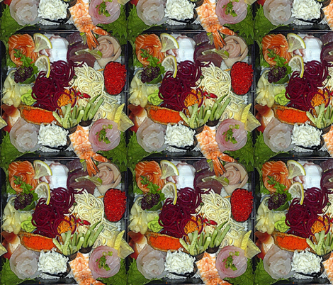 Chirashi Sushi Plate fabric by peacoquettedesigns on Spoonflower - custom fabric
