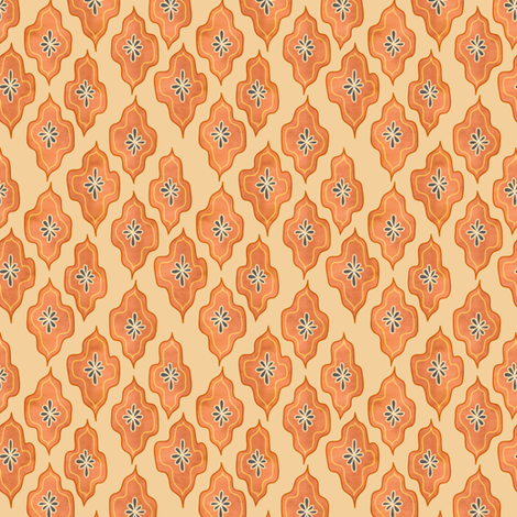 dappled lozenge - saffron fabric by fox&lark on Spoonflower - custom fabric