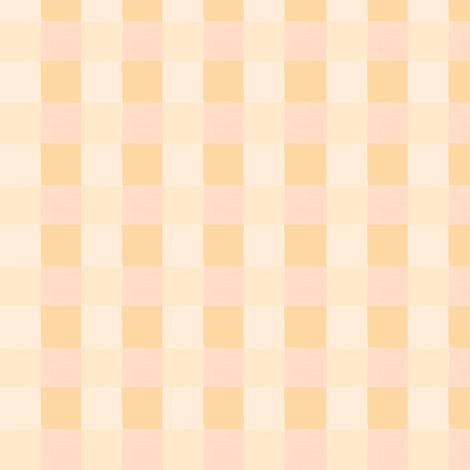 peach checks 1 fabric by mojiarts on Spoonflower - custom fabric