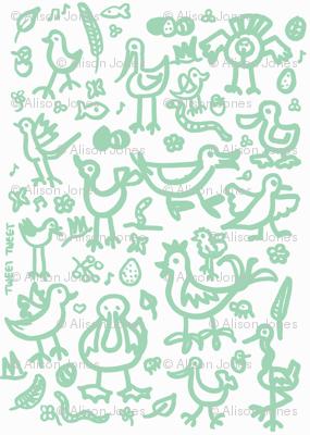 birdies teal