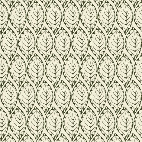 Beady Leaf fabric by wednesdaysgirl on Spoonflower - custom fabric