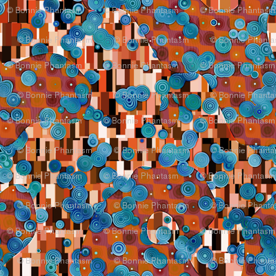 Klimtified! - Turquoise/Copper