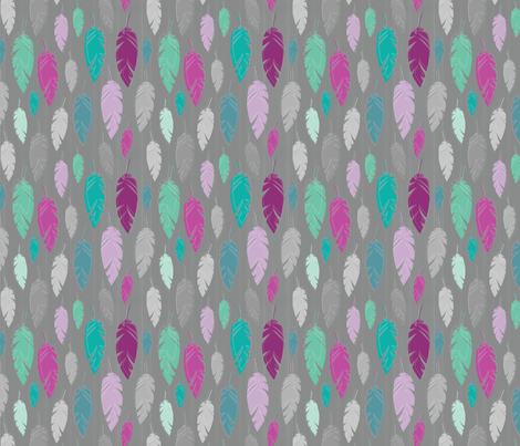 Dreams - Light as a feather fabric by rosiesimons on Spoonflower - custom fabric