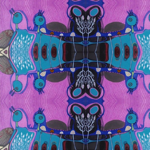 psychedelic birds