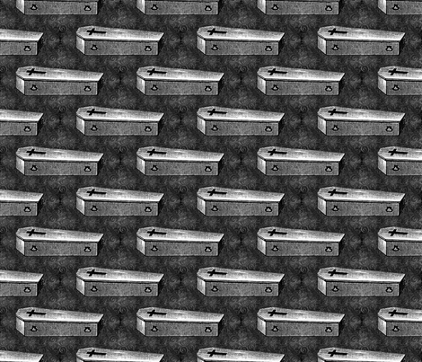 Coffin fabric by mandamacabre on Spoonflower - custom fabric
