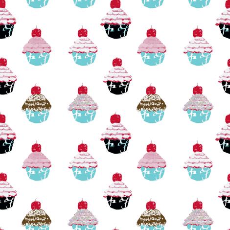 Have a cupcake fabric by karenharveycox on Spoonflower - custom fabric