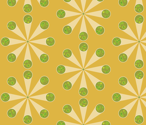 Petri Pals - microscope fabric by thecalvarium on Spoonflower - custom fabric