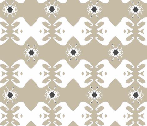 elephant_donkey_grey_2 fabric by thehouseoflulla_ on Spoonflower - custom fabric