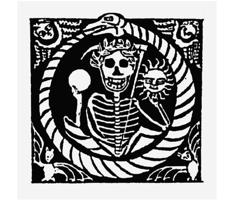 Memento Mori 2 fabric by the_cornish_crone on Spoonflower - custom fabric