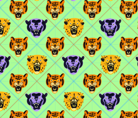 Little Big Cats fabric by chad_grohman on Spoonflower - custom fabric