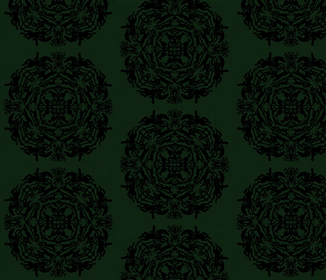 circlegreenblack-ed fabric by ragan on Spoonflower - custom fabric