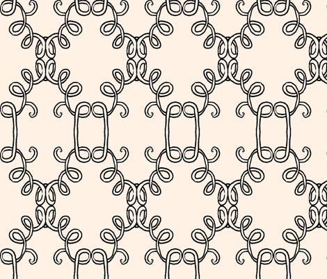 Interlocking Doodle Noodles fabric by boris_thumbkin on Spoonflower - custom fabric