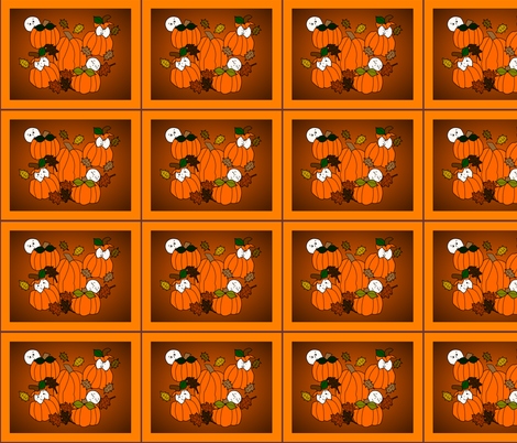 Babies In The Pumpkin Patch Large 2 Fabric With Pumpkins fabric by lworiginals on Spoonflower - custom fabric