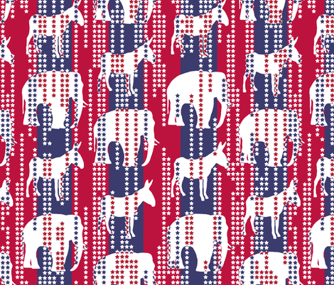 Stars in Stripes Election Style fabric by shelleymade on Spoonflower - custom fabric
