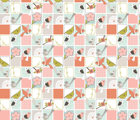 Wake Up Call - Quilt Block fabric by ttoz on Spoonflower - custom fabric