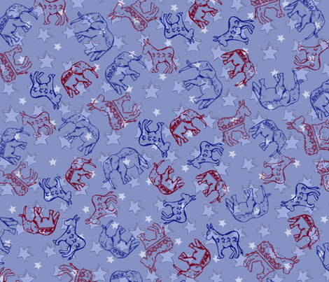 Donkeys___Elephants fabric by ericaml on Spoonflower - custom fabric