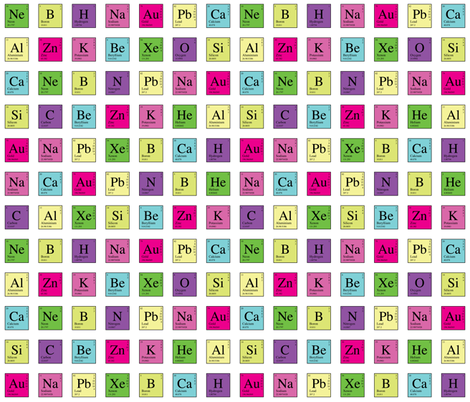 Elementary Periodic (Retro) fabric by robyriker on Spoonflower - custom fabric