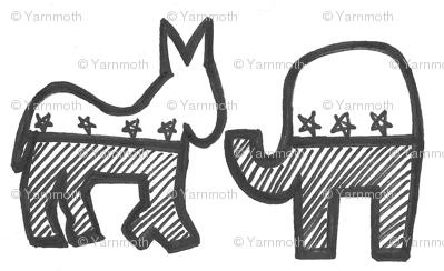 donkeyandelephant