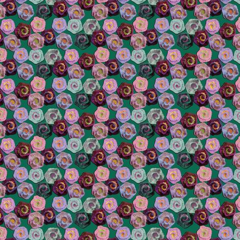 Crocheted Spiral Flowers fabric by nezumiworld on Spoonflower - custom fabric