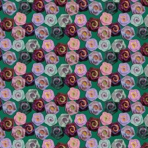Crocheted Spiral Flowers
