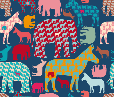 Donkelephant fabric by cassiopee on Spoonflower - custom fabric