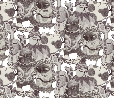Slightly Anxious Creatures fabric by aden on Spoonflower - custom fabric