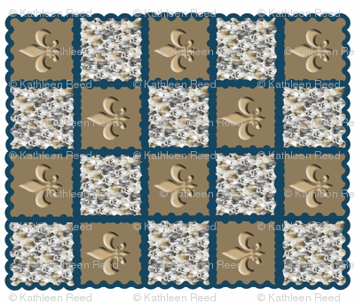 Shih Tzu Baby Quilt cheater top