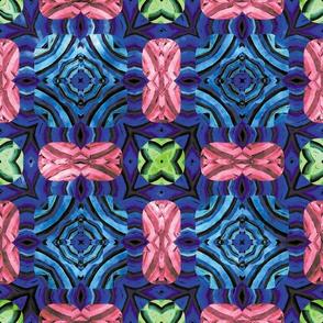 Flowery Incan Mosaics In Watercolors 27