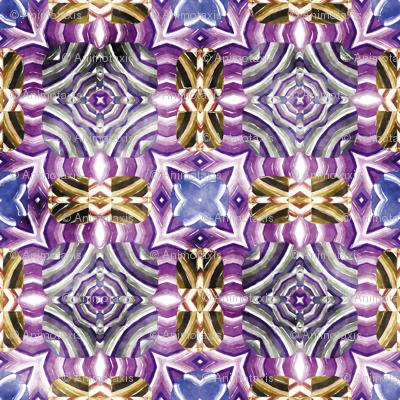 Flowery Incan Mosaics In Watercolors 29