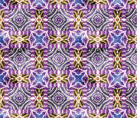 Flowery Incan Mosaics In Watercolors 29 fabric by animotaxis on Spoonflower - custom fabric