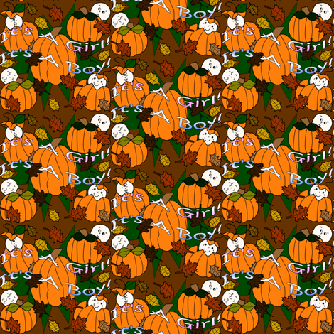 Babies In The Pumpkin Patch Fabric 4 fabric by lworiginals on Spoonflower - custom fabric