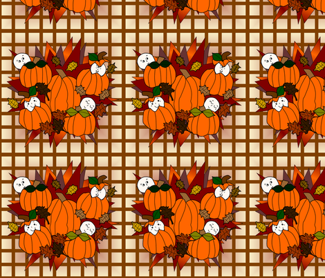 Babies In The Pumpkin Patch - Plaid Fabric fabric by lworiginals on Spoonflower - custom fabric