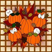 Babies In The Pumpkin Patch - Plaid Fabric