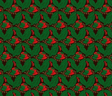 Christmas coffee fabric by zandloopster on Spoonflower - custom fabric