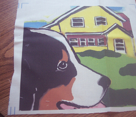 Bernese Mounttain Dog Garden Flag