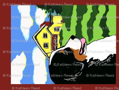 Bernese Mounttain Dog Garden Flag