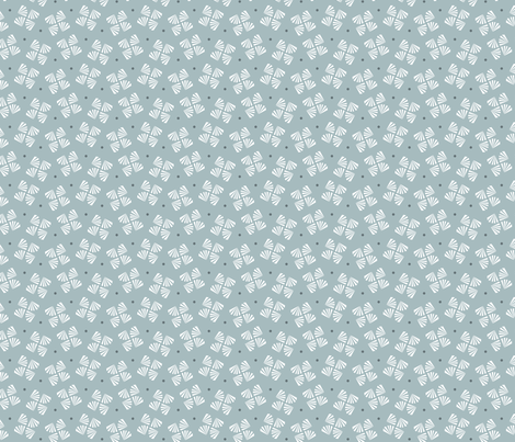 Grey flower / dark grey dot fabric by happy_to_see on Spoonflower - custom fabric