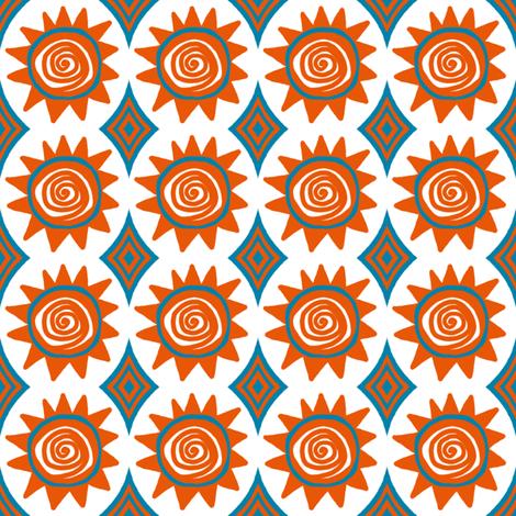 Beach Hat: Sunny fabric by tallulahdahling on Spoonflower - custom fabric