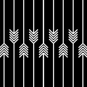 white arrows flip flop on black