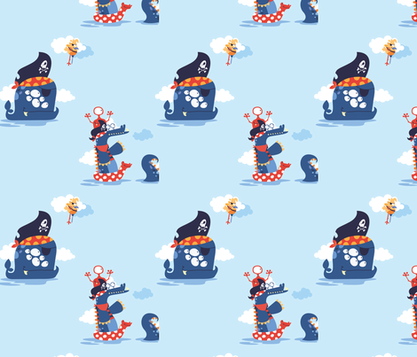 Pirate monsters 11 fabric by cyntia_abrigo on Spoonflower - custom fabric